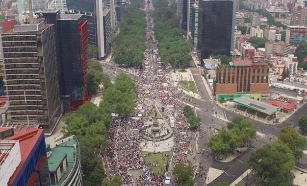 Movilización masiva en defensa de la CNTE, hace falta aterrizarla en la acción unitaria, balance de la marcha